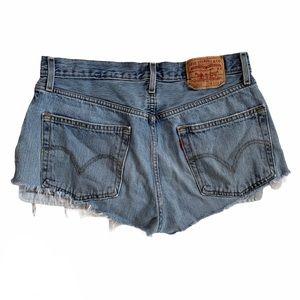 Levi's 501 Cutoff Cut Off Denim Jean Shorts